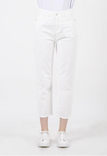 COLORBOX white Basic Highwaist Pants 40909AA6CE6095GS_1