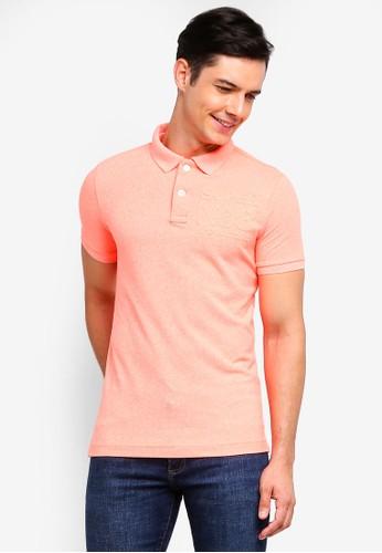 Superdry orange Classic Emboss Short Sleeve Pique Polo Shirt F4402AA289C9A6GS_1