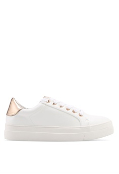 4abdf0985131 TOPSHOP white and gold Candy Lace Up Trainers CA2C9SH229A07FGS 1