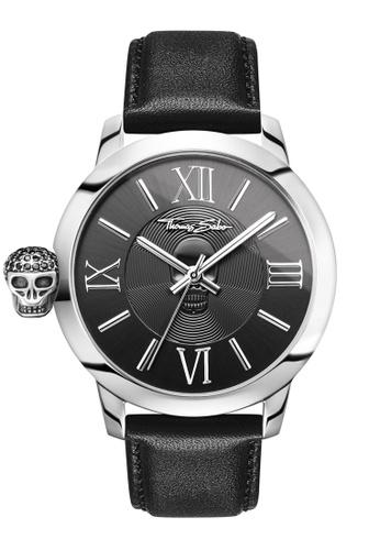"""Thomas Sabo black Men's Watch """"REBEL WITH KARMA"""" B93B5AC73FD5A0GS_1"""