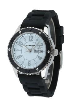 Eglantine Vanessa Quartz Watch Steel, On Rubber Strap, 14WS-VAN06-BR