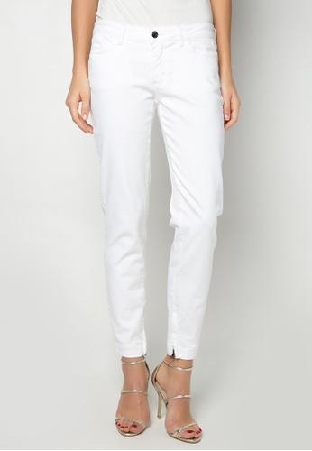 Dolce & Gabbana white Slim Trousers DA093AA10TUFPH_1