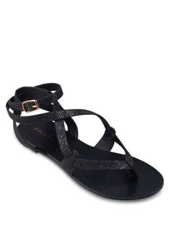 扣esprit outlet hk環繞踝平底涼鞋, 女鞋, 鞋