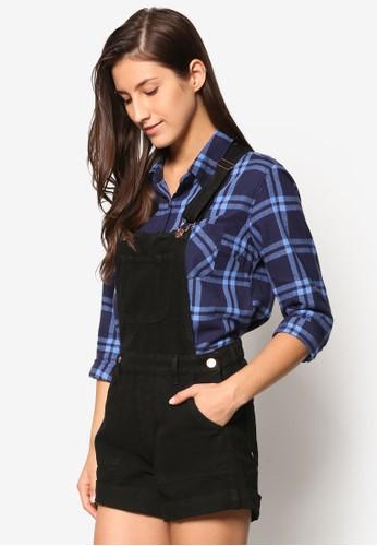 Hesprit台灣outletollie 金屬鈕扣吊帶連身褲, 服飾, 連身褲