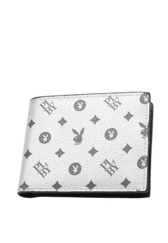 Playboy silver RFID Blocking Wallet 631EDAC3127D3BGS_1