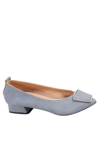Twenty Eight Shoes blue Pointed Mid Heel with Buckle VL1701 1D500SH20888ABGS_1