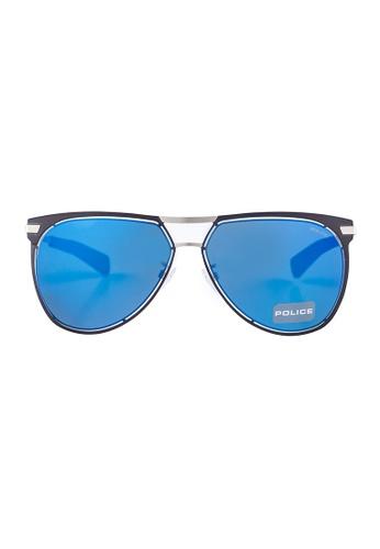 Police black POLICE Offside 5 Aviator Black Sunglasses SPL157 PO706AC80OYLMY_1