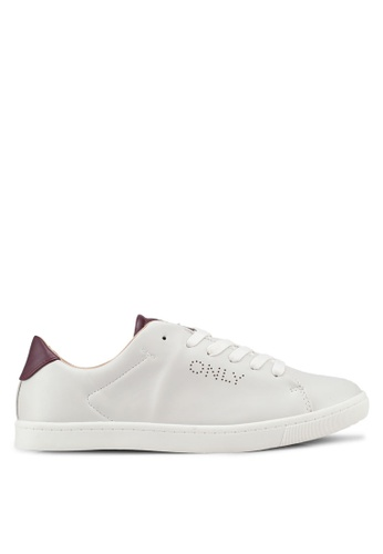 ONLY 白色 休閒運動鞋 EC5B4SH78B802AGS_1