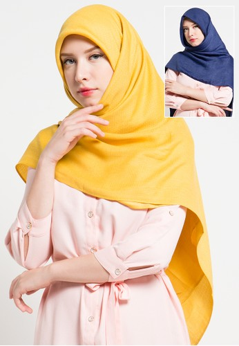 SI For Sun Island yellow and blue Square Scarfs SI385AA66ZPTID_1