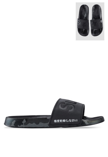 Superdry black Superdry AOP Beach Slides 973A0SHF2D80C8GS_1