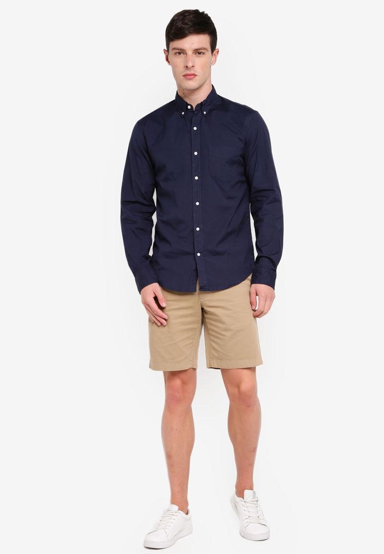 Crew Shirt J Wash Navy Stretch Secret Poplin tqOTwBX4