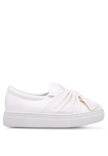Something Borrowed white Deconstructed Knot Slip Ons 823A4SHCBEA5D3GS_1