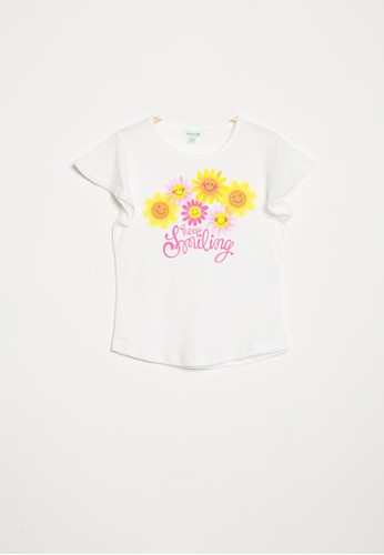 Bossini white Bossini Kids Girl T-Shirt Wht Pearl (84082505001) A0AF0KAD16D6D9GS_1