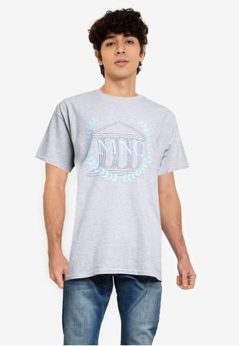 Mennace grey House Of Mnc T Shirt A225DAAA8308D9GS_1