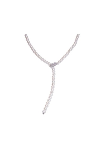 Pearly Lustre silver Pearly Lustre Elegant Freshwater Pearl Necklace WN00196 072D5ACA403EABGS_1
