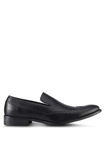 ZALORA black Wingtip Slip On Dress Shoes 9696BSH0997FBEGS_1