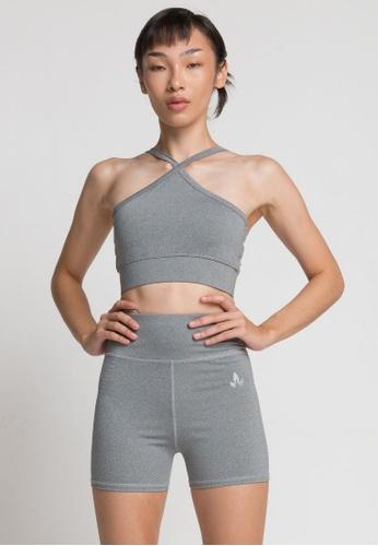 Lotus Activewear grey Lia Halter Neck Bra 2FDDAUS2A86D54GS_1