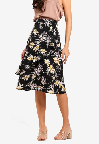 7ed6bb9dac670 Shop ZALORA Asymmetric Double-Layer Skirt Online on ZALORA Philippines