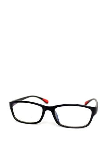 Peculiar and Odd black Peculiar Square 8818 Anti Radiation Replaceable Lens Eyeglass 07C00GLD3C18BBGS_1