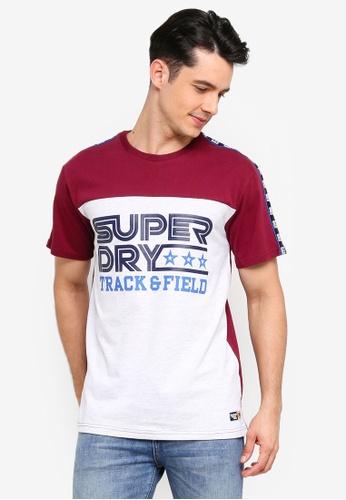 Superdry 白色 印花袖滾邊T恤 6BAC9AA602C90DGS_1