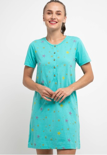 Puppy blue Dress Daster Sleepwear BBC9AAA644F506GS_1