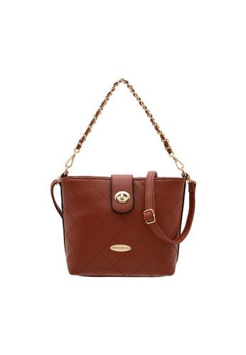 British Polo brown British Polo Sweet Pineapple Handbag 9D519AC118AD1AGS_1