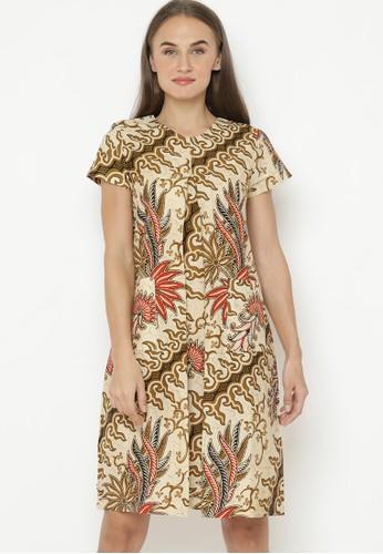 Brahmani Batik brown Sonia Batik Dress 370F9AA7D1C5A9GS_1