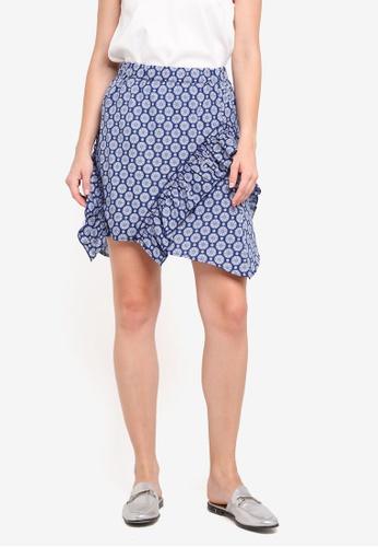 Y.A.S blue Nita Skirt 1D4AFAAEAFB9A8GS_1