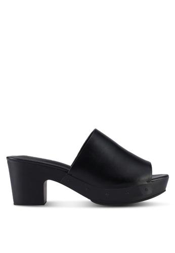 VINCCI black Slip On Mule Heels BB214SH81F204FGS_1