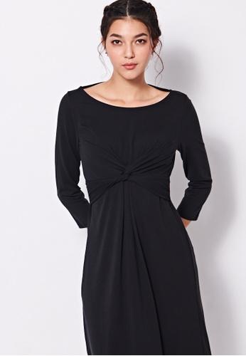 Sisley black Long Dress 5CD91AAE9D3C26GS_1