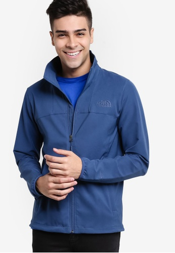 The North Face blue Lightweight Softshell Jacket TH274AA61IEGMY_1