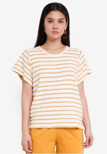 ICHI yellow Silva Sweatshirt E07F7AA471E487GS_1