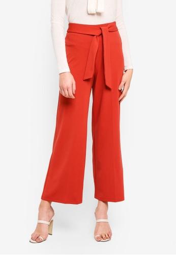 Buy Miss Selfridge Rust Tie Trousers Co Ord Zalora Hk