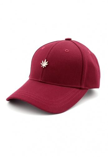 DOSSCAPS red HATER Gold Leaf Stud Cap (Burgundy) 03788AC5C5037CGS_1