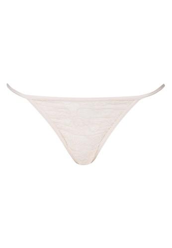 LAVABRA Intimates beige Very Sexy Panty - Melissa Sexy Floral Lace V String LA387US76GCPID_1