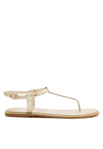 Twenty Eight Shoes gold Sexy Toe Post Flat Sandals VS8858 38A10SHFEA508FGS_1