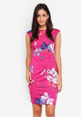 Dorothy Perkins pink Billie & Blossoms Pink Floral Bodycon Dress BDD7BAAA5862A1GS_1