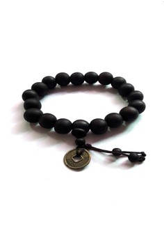 Feng Shui Wealth Catcher and Wu Lou Wood Bracelet