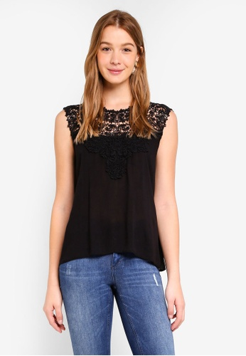 ONLY black Laura Crochet Top 59AA6AA9A0A0AEGS_1