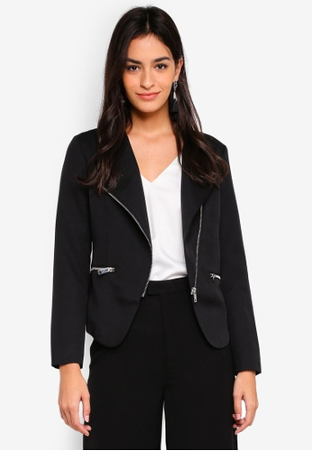 ZALORA black Overlap Structured Jacket 347F1AA7411F2FGS_1