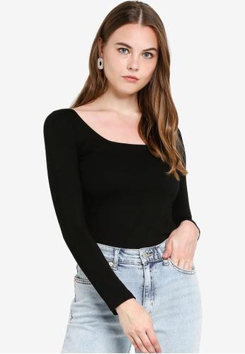 FORCAST black Kira Long Sleeve Top 5E069AA7B8C869GS_1