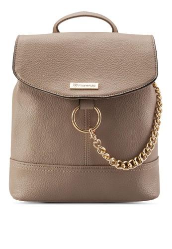 鏈飾扣環PU 後背包,zalora是哪裡的牌子 包, 後背包