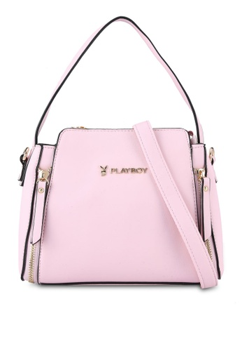 PLAYBOY BUNNY pink Casual Shoulder Bag PL604AC0RX6CMY_1