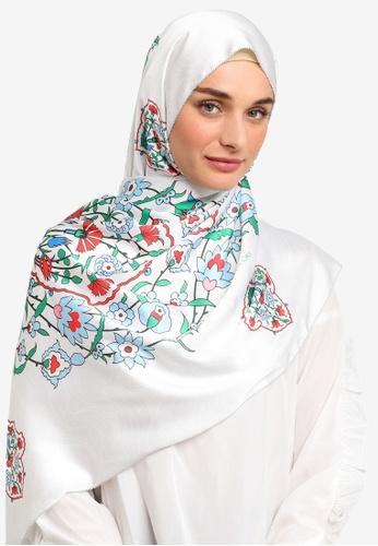 The Ciks white Mediterranean In Persia Shawl 253E4AADFD837BGS_1