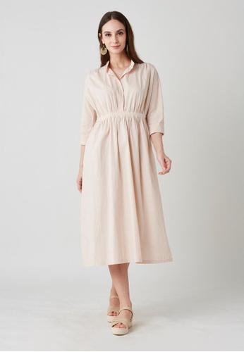 East India Company Ijaya- Long Sleeve Shirt Dress AD628AAD0B175FGS_1