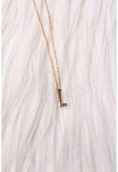 Mini Slide Initial Necklace L