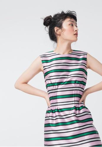 iROO multi Contrast Glossy Dress 9FCBDAAE19E903GS_1