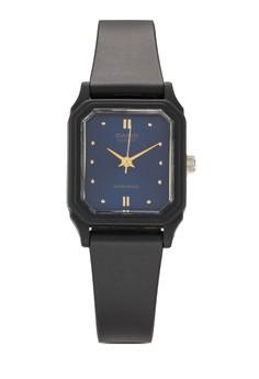 【ZALORA】 LQ-142E-2A 方框休閒運動女錶