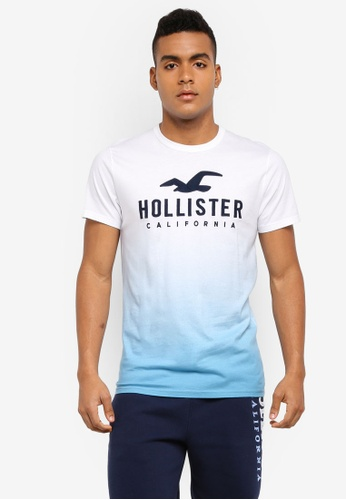 Hollister navy Iconic Tech Ombre T-Shirt 71F06AA4FB344BGS_1