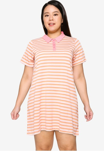 Cotton On multi Plus Size Tina Polo Mini Dress B937CAA9A5A875GS_1